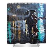 Rainy City Street Shower Curtain