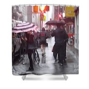 Rainy Corner - New York City Shower Curtain