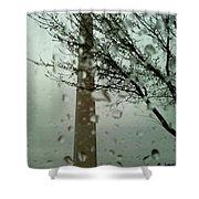 Rainy Day At The Washington Monument Shower Curtain