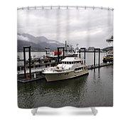 Rainy Day Dock Shower Curtain