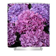 Rainy Day Flowers Shower Curtain