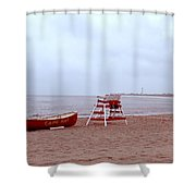 Rainy Day In Cape May Shower Curtain