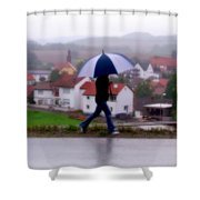 Rainy Day In Sembach Shower Curtain