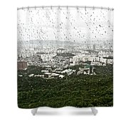 Rainy Day In Seoul Shower Curtain