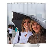 Rainy Day In The Big City Shower Curtain
