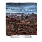 Rainy Day In The Desert Shower Curtain