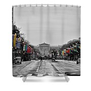 Rainy Day On The Parkway Shower Curtain