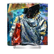 Rainy Day People #3 Shower Curtain