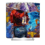 Rainy Day People Shower Curtain