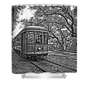 Rainy Day Ridin' Monochrome Shower Curtain by Steve Harrington