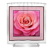 Rainy Day Rose Square Shower Curtain