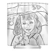 Rainy Day Smile Shower Curtain