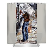 Rainy Day - Woman Of New York 15 Shower Curtain