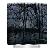 Rainy Days And Mondays- Feature-barns Big And Small-visions Of The Night-photography And Textures Shower Curtain