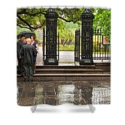 Rainy Destination Wedding In Jackson Square New Orleans Shower Curtain