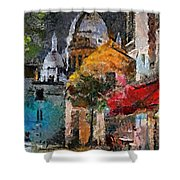 Rainy Evening In Montmartre Shower Curtain