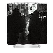 Rainy Night On Seventh - Duo Shower Curtain