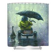 Rainy Ride Shower Curtain
