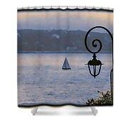 Rainy Sail Shower Curtain