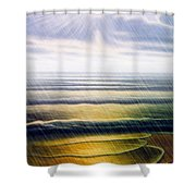 Rainy Seascape Shower Curtain