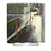 Rainy Street In Melbourne Shower Curtain