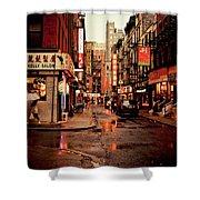 Rainy Street - New York City Shower Curtain by Vivienne Gucwa