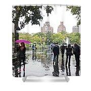 Rainy Washington Park  Shower Curtain
