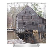 Rainy Yates Mill Shower Curtain by Kevin Croitz
