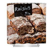 Raisin Bread Shower Curtain