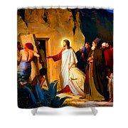 Raising Of Lazarus Shower Curtain