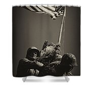 Raising The Flag On Iwo - Front Shower Curtain