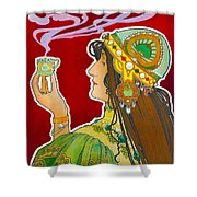 Rajah Shower Curtain by Henri Pivat Livemont