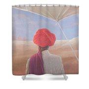 Rajasthan Farmer, 2012 Acrylic On Canvas Shower Curtain