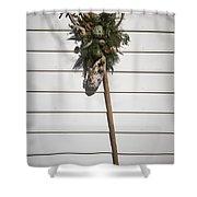 Rake And Wreath Shower Curtain