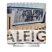 Raleigh At The Shimmer Tree Shower Curtain
