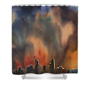 Raleigh Thunderstorm Shower Curtain