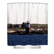 Ram Island Lighthouse In Maine Shower Curtain