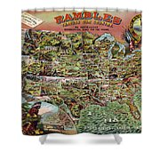 Rambles Through America Shower Curtain
