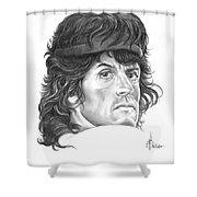 Rambo-sylvester-stallone Shower Curtain by Murphy Elliott