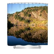 Rampart Ridge In Rachael Lake Shower Curtain