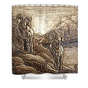 Rams Relief Shower Curtain
