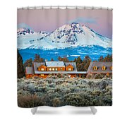 Ranch House And Sisters Shower Curtain