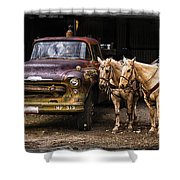 Ranch Transportation Shower Curtain
