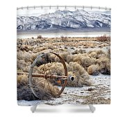 Ranching The Black Rock Shower Curtain