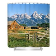 1m9392-ranchland And The Tetons Shower Curtain