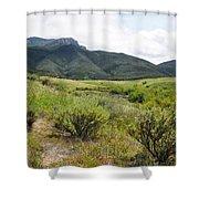 Rancho Sierra Vista Satwiwa Mountains II Shower Curtain