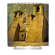 Ranchos Church In Old Gold Shower Curtain