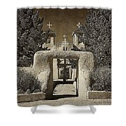 Ranchos Gate On Rice Paper Shower Curtain