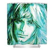 Randy Rhoads Portrait Shower Curtain