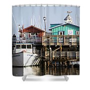 Randys Whale Watching And Fishing Trips Shower Curtain